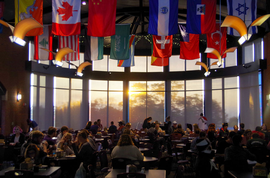 IDX Student Life Center dining hall at Champlain College